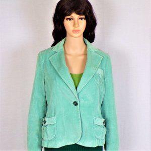 Corduroy sportcoat size 10 green 100% cotton